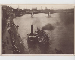 GRUSS AUS BASEL / DER BARFÜSERPLATZ - STANDORT DER BOTTENWAGEN IN DEN 1890er JAHREN (CARTE FORMAT 16X23) - BS Basle-Town