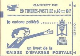 """CARNET 1536B-C 2 Marianne De Cheffer """"CAISSE D´EPARGNE POSTALE"""" Conf. 6 Fermé. SUPERBE à Saisir. - Carnets"""