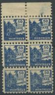 1450 - MONTREUX Fiskalmarke Im 6er Block