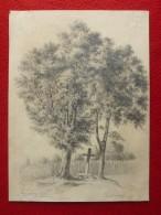 DESSIN AU CRAYON SIGNE ERNEST GIRARD 1866 - Dessins