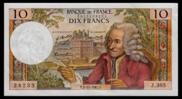 France 10 Francs 2.11.1967 XF+ - 10 F 1963-1973 ''Voltaire''