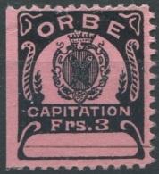 1452 - ORBE Fiskalmarke - Fiscaux