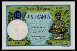 Madagaskar 10 Francs 1937-1947 UNC - Madagascar