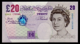 Great Britain 20 Pounds 1999-2003 P.390a UNC - 1952-… : Elizabeth II