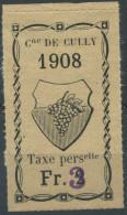 1454 - CULLY Fiskalmarke - Fiscaux