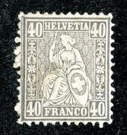 10263  Switzerland 1878  Zumstein #42 *  Michel #34  ( Cat. 2.€ ) Offers Welcome! - 1862-1881 Zittende Helvetia (getande)
