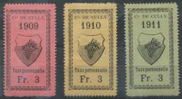 1455 - CULLY Fiskalmarken - Fiscaux