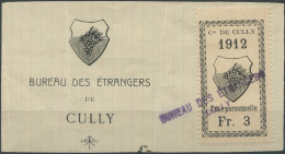 1456 - CULLY Fiskalmarke Auf Abschnitt - Fiscaux