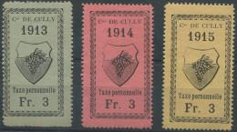 1457 - CULLY Fiskalmarken - Fiscaux