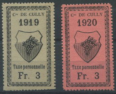 1459 - CULLY Fiskalmarken - Fiscaux