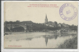 Mont Sur Meurthe  Pont Détruit Guerre 1914-18 - Francia