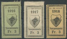 1460 - CULLY Fiskalmarken - Fiscaux