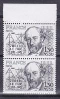 N° 2095 Personnages Célèbres: Viollet-le-Duc : Une Paire De 2 Timbres Neuf Sans Charnière - France