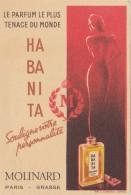 CARTE PARFUMEE DE MOLINARD HABANITA  / AVRIL16 / BO. THEMES - Antiquariat (bis 1960)