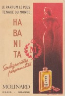 CARTE PARFUMEE DE MOLINARD HABANITA  / AVRIL16 / BO. THEMES - Anciennes (jusque 1960)