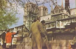 FRANCE : PARIS «Notre-Dame – Les Bouquinistes «- Carte Pelletier. - Die Seine Und Ihre Ufer