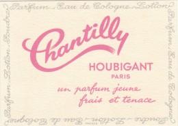 CARTE PARFUMEE     CHANTILLY DE HOUBIGAN   / AVRIL16 / BO. THEMES - Anciennes (jusque 1960)