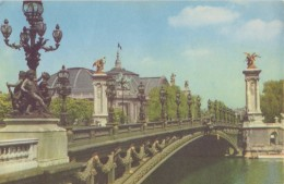 FRANCE : PARIS «Pont Alexandre «- Carte Pelletier. - Ponts