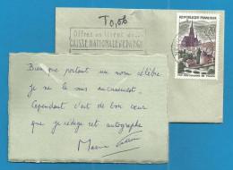 (A122) Signature / Dédicace / Autographe Original De MAXIME CITROEN + Texte + Enveloppe Datée - Autographes