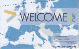 ITALY - Orio Al Serio International Airport, Welcome(benefits) Magnetic Card, Used - Avions