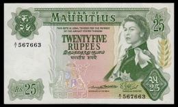 Mauritius 25 Rupees 1967 P.32a XF - Mauritius