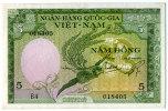 South Vietnam Viet Nam 5 Dong UNC Banknote 1955 - P#2a - Vietnam