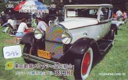 Télécarte Japon * PACKARD * (296) Série Vieille Voiture N°.9 * Phonecard Japan OLDTIMER * VOITURE * AUTO * CAR - Cars