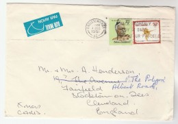 1981 Air Mail  NEW ZEALAND Stamps COVER SLOGAN Pm PACK PROPERLY PLAY SAFE WITH YOUR PARCELS To GB  Airmail Label  Post - New Zealand