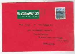 2000 NEW ZEALAND COVER Stamps 80c DOUBTFUL SOUND  To GB - New Zealand