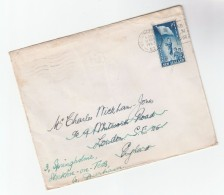 1953 NEW ZEALAND COVER HEALTH Stamps To GB - Covers & Documents