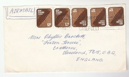 1973 Air Mail  NEW ZEALAND COVER Stamps 5x 12c  To GB - New Zealand