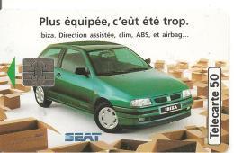 CARTE°-PUCE-PRIVEE-PUBLIC- 5OU-EN1028-SO5-09/94-SEAT IBIZA-PSG-FOOT-UTILISE-TBE - Francia