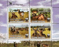 WWF Guinea-Bissau 2008 Defassa Waterbuck MNH Souvenir Sheet - W.W.F.