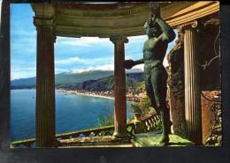 Q343 TAORMINA, In Prov. Di Messina -   VILLA MARZOTTO - ED. TRINACRIA 154  - SICILIA, ITALIA + STATUA, SCULTURA - Italia