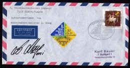 Germany: Cover, 1983, With Autograph Of Toni Mang, World Champion Motor Racing, Exibition Cancel (traces Of Use) - Brieven En Documenten