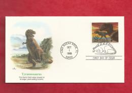 Lettre Des USA De 1989 - FDC - YT N° 1873 - Tyrannosaure - Stamps