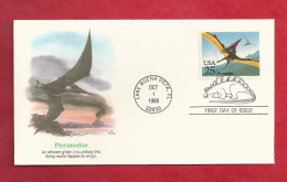 Lettre Des USA De 1989 - FDC - YT N° 1874 - Ptéranodon - Stamps
