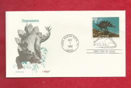 Lettre Des USA De 1989 - FDC - YT N° 1875 - Stégosaure - Stamps