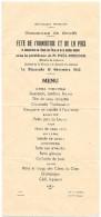M 15  Menu Du Déjeuner Du Dimanche 13 Novembre 1932 - Menus
