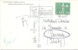 V-ANNULLO SVIZZERO PER I 75 ANNI INTERNATIONALE SPRACHE ESPERANTO-1962 - Esperanto