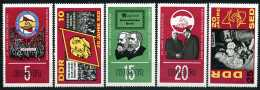 DDR - Michel 1173 / 1177 - ** Postfrisch (C) - 20 Jahre SED - [6] République Démocratique
