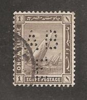 Perfin Perforé Firmenlochung Egypt SG 84 ABE  Anglo Belgian Company Of Egypt - Égypte
