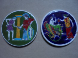 2 Sous-verres En Céramiques MOSCHATO - GREECE - Céramiques