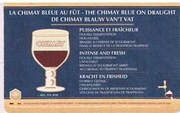Sous Bock - Trappistes - Chimay Bleue  Au Fût - 2 Scans - Bierviltjes