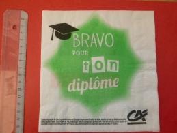 Serviette En Papier Publicitaire Crédit Agricole Pour Les étudiants - Tovaglioli Bar-caffè-ristoranti