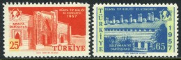 TURKEY 1957 (**) - Mi. 1526-27, 11th Congress Of The World Medical Association - 1921-... Republic