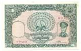 Burma 100 Kyats 1958 UNC Little Stain / Staple Holes .LL. - Myanmar