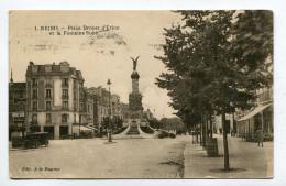CPA  51  :  REIMS   Place D'Erlon Et Fontaine Subé    1928        A  VOIR  !!!!!!! - Reims