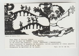 2 CPSM PRESSAGNY L'ORGUEILLEUX (Eure) - Publicité Rémy Et Nicole LEBRUN Cartes Postales Et Brocante 58 Route Des Andelys - Autres Communes
