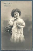 CPA  - ENFANTS - FILLETTE - JOYEUSES PÂQUES - Portraits